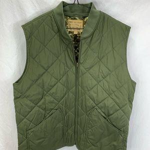 Men's True Religion Green Quilted Vest XXL